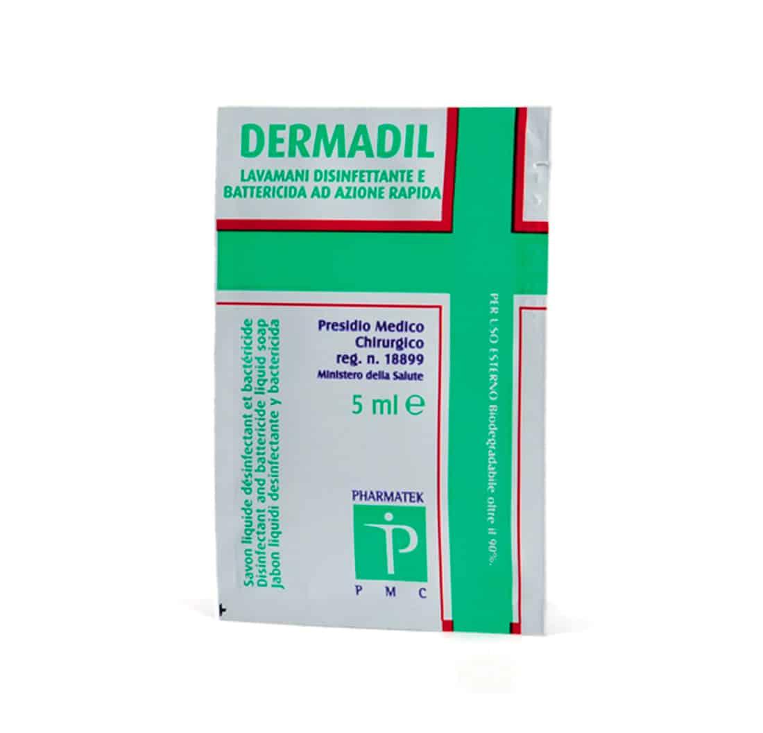 Sapone Liquido Disinfettante | Battericida in bustina - 5 ml - Confezione 5 pz-0
